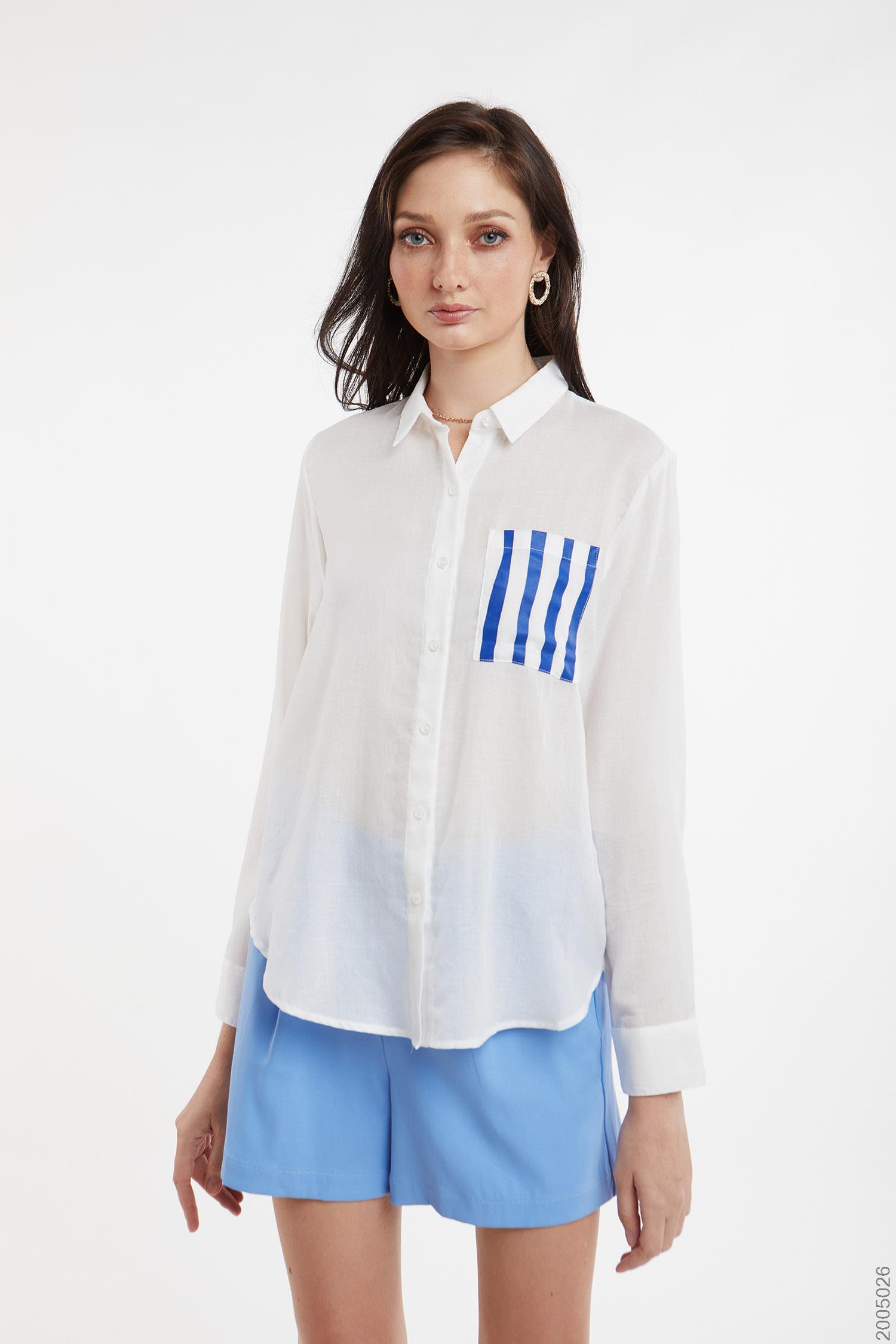 áo sơmi nữ tay dài - 2005026
